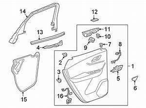 Chevrolet Blazer Door Interior Trim Panel  Rear   Premier