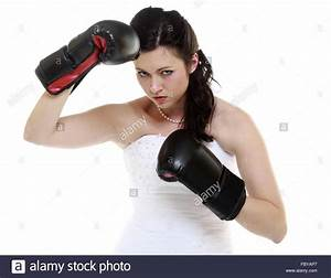 emancipation idea concept bride in wedding dress wearing With boxing wedding dress