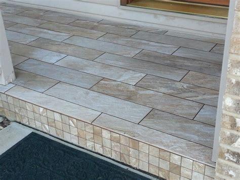 porcelain tile front stoop mosaic happy floors fitch