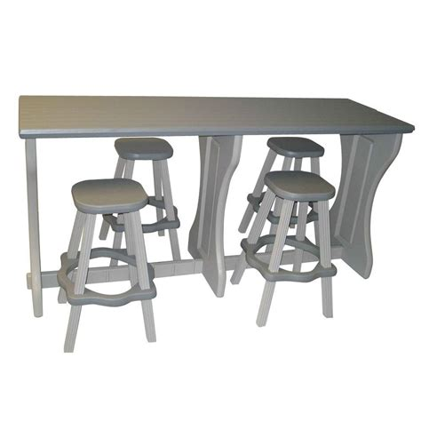 leisure accents gray resin 5 patio bar set ladbbs g
