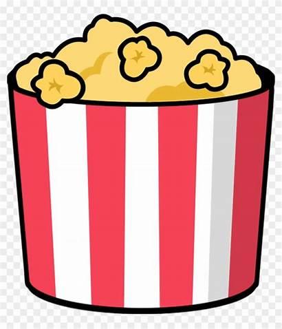 Popcorn Clipart Movie Cartoon Theater Transparent Clipground