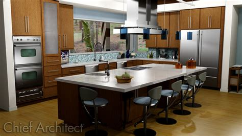chief architect kitchen design kitchens contemporary other metro by chief architect 5388