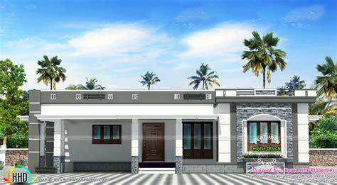 of images floor houses 158 sq m flat roof single floor home kerala home design
