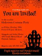 Halloween Party Invitation Wording Wordings And Messages Halloween Party Invitation Ideas Graduations Invitations Free Printable Halloween Invitations Free Halloween Party Halloween Invitation Card