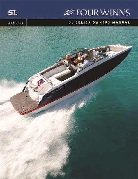 Four Winns Boat Owners Manual by 2008 Four Winns Sl Series Boat Owners Manual