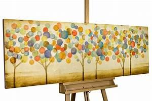 Gemälde Hirsch Modern : modernes acryl gem lde mit bunten bl ttern kunstloft ~ Orissabook.com Haus und Dekorationen