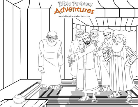 story  joseph  bible coloring pages  activities