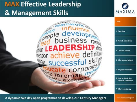 max effective leadership management skills