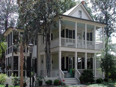 southern house plan  double porches french country