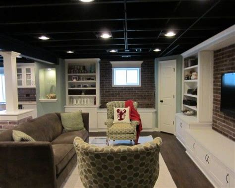 basement lighting unfinished basement ceilings design pictures remodel Unfinished