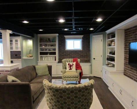 Semifinished Basement Room Sized Carpet, Ikea Bookcases