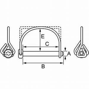 Pins - Wire Lock Lynch - Single Wire - Square