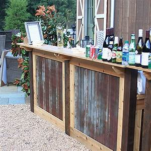 Rustic, Portable, Bar, Rental, For, Weddings, And, Parties