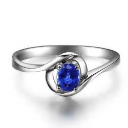 chagne sapphire engagement rings solitaire sapphire engagement ring on 10k white gold jewelocean