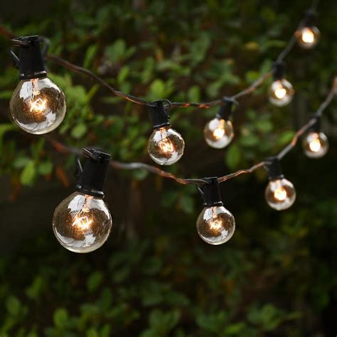 outdoor patio string lights 25ft globe string lights with 25 g40 bulbs vintage patio