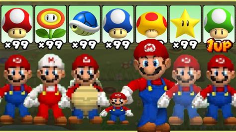 New Super Mario Bros Ds All Power Ups Youtube