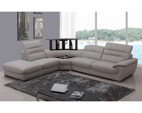 modern grey leather sofa modern light grey italian leather sectional sofa 44l5962