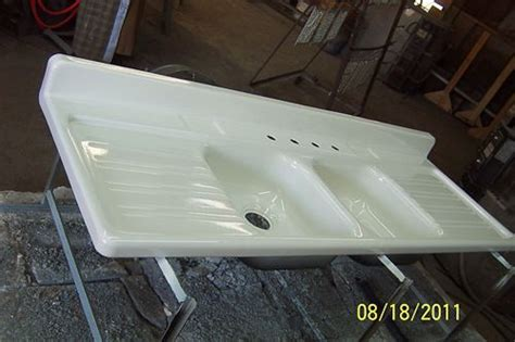 enamel kitchen sink with drainboard large ceramic or enameled sinks with drain board real