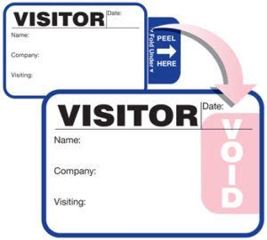 visitor badge  companies   changed