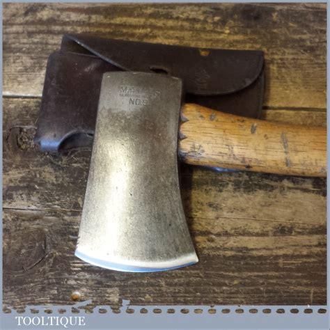 rare vintage marbles gladstone   belt hand hatchet axe leather sheath