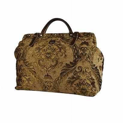 Victorian Carpet Traveler Bag Dark Bags 1800s