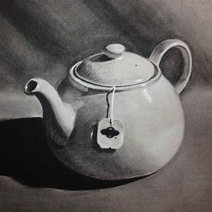 Chiaroscuro charcoal drawing. | still life samples ...