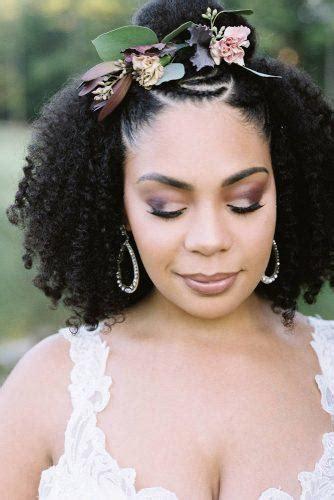 Black Half Up Half Hairstyles by 42 Black Wedding Hairstyles Wedding Forward