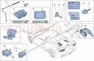 Ferrari 458 Spider Antitheft System Parts