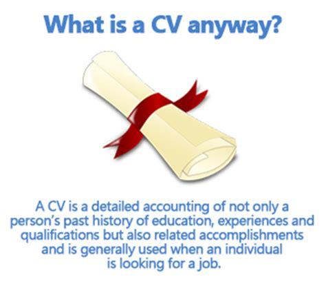how to write a cv or curriculum vitae exle included