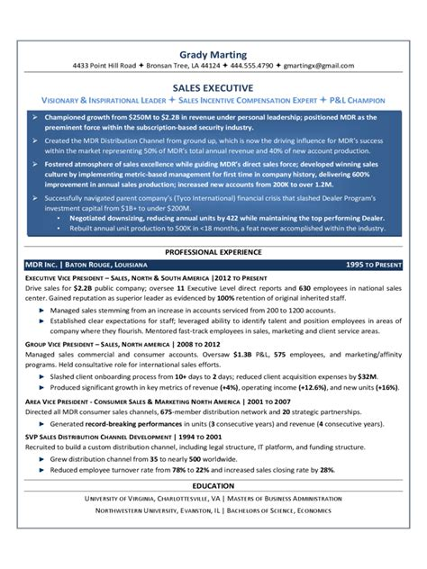 executive resume template 5 free templates in pdf word