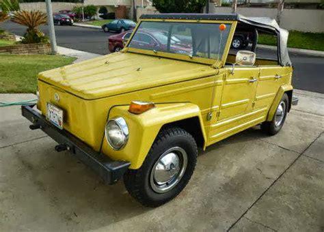 volkswagen thing yellow 1973 vw thing original yellow buy classic volks