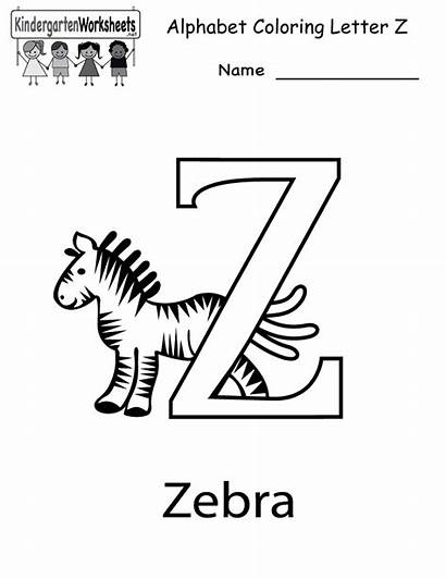 Letter Printable Kindergarten Worksheets Worksheet Alphabet Coloring
