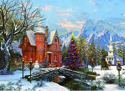 Davison Dominic Jigsaw Holiday Puzzle Winter Painting