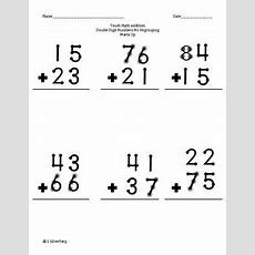 Touch Math Addition Adding Double Digit Numbers Bundle By Sophie's Stuff