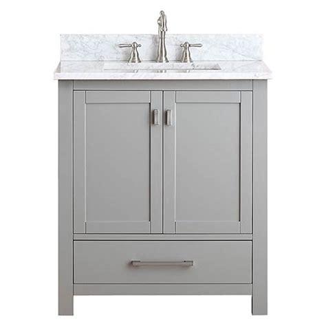 modero chilled gray   vanity combo  white