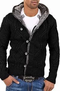 Veste En Laine Homme : gilet en laine homme fashion gilet a capuche ~ Carolinahurricanesstore.com Idées de Décoration