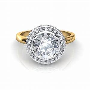 classic shank two sided micro pave diamond halo engagement With halo wedding rings