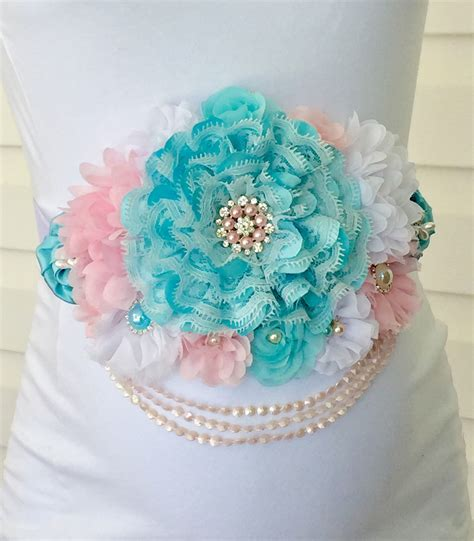 shabby chic maternity clothes gulf blue and baby pink flowers white vintage lace shabby