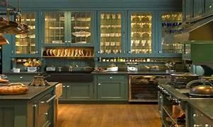Authentic Victorian Kitchen Dark Brown Curtains Grey