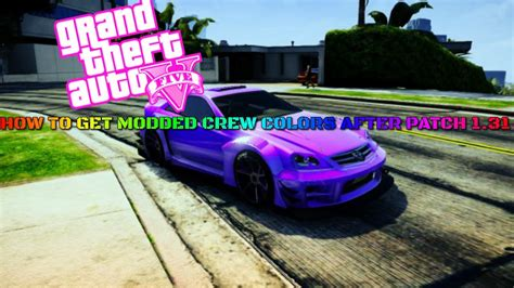 gta 5 crew colors how to get modded crew colors on gta 5 after patch 1 31 1