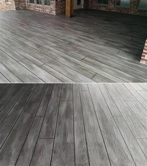 stamped concrete patterns   compound yard