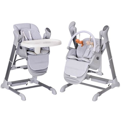 chaise haute 2 en 1 splity 3 in 1 high chair swing mp3 player via usb