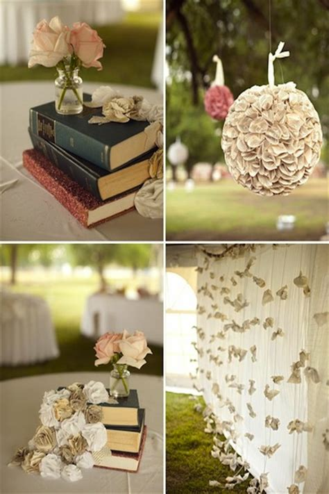 Decorating Ideas Using Books by Wedding Details For Book