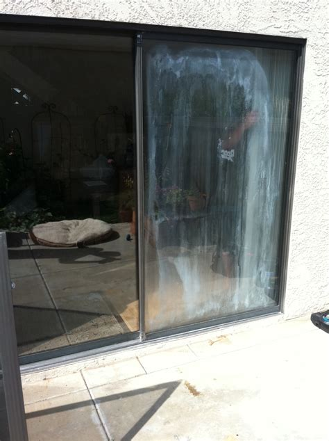 glass repair san diego fogged sliding door before