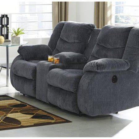 Fabric Reclining Loveseat With Console by Garek Fabric Power Reclining Console