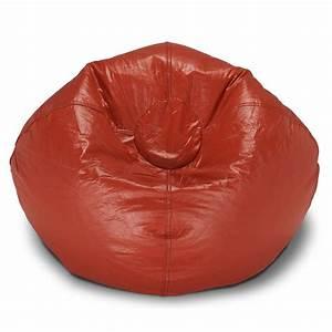 Bean Bag Chairs : ace casual furniture red vinyl bean bag 9800301 the home depot ~ Orissabook.com Haus und Dekorationen
