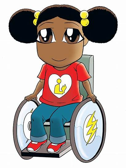Superhero Clipart Child Wheelchair Cliparts Run Librarian