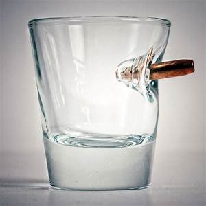 BenShot Bulletproof - Shot Glass With Real Bullet  Glass