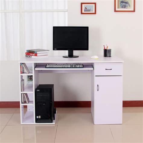 bureau informatique 120 cm homcom bureau informatique table de l ordinateur multim 233 dia 3 201 tag 232 res 120 x 60 x 74 cm mauve