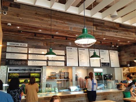 sweetgreen floating shelves  leaning boards coffee